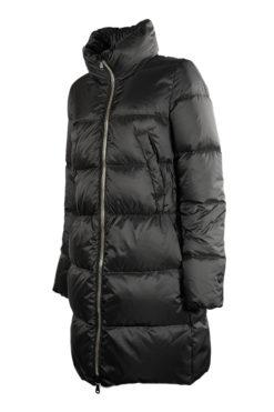 K-way parka nero da donna con pelliccia ecologica 516b2680aad1